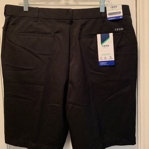 Izod Black Golf Shorts